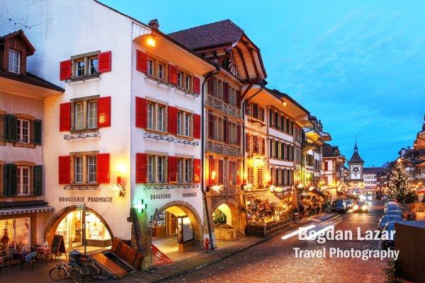 Old town of Murten / Morat, Canton de Fribourg, Switzerland