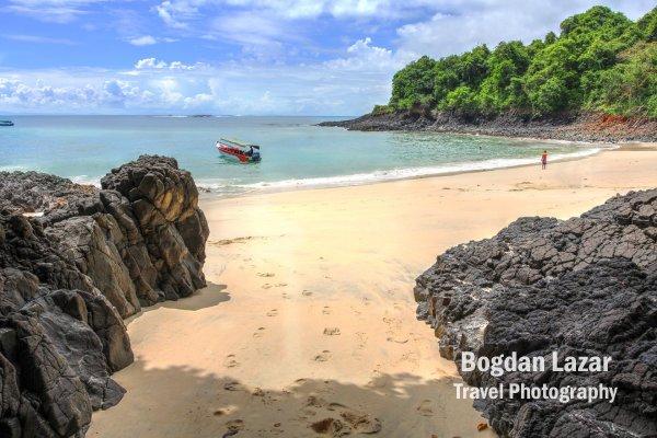 Secret beach on Isla Bolanos, Chiriqui province, Panama
