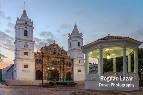 Panama Metropolitan Cathedral in Casco Antiguo Square