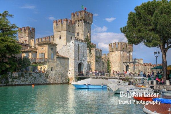 Castelul Scaliger din Sirmione, Italia
