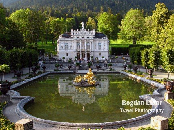 Palatul Linderhof în sudul Germaniei