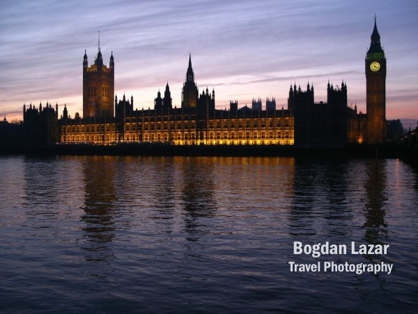 Palace of Westminster at twilight, London, United Kingdom
