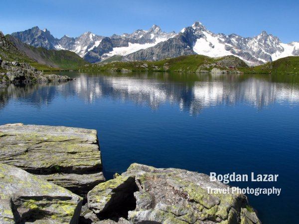 Fenetre Lakes near Grand St-Bernard Pass, Switzerland