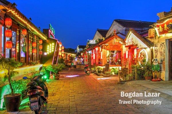 Scenă de noapte în Tongli, China