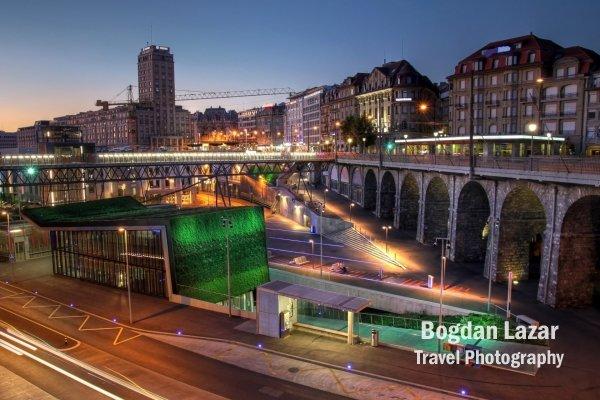 Stația metroului M2 - Lausanne-Flon, Elveția