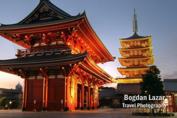 Templul Senso-ji din Asakusa, Tokyo, Japonia