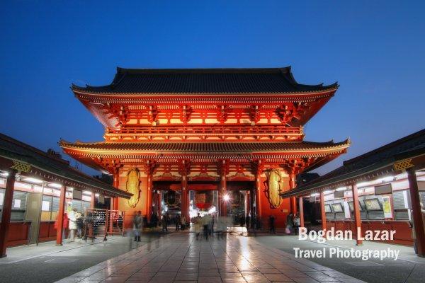 Poarta Hozo-mon, Templul Senso-ji, Asakusa, Tokyo, Japonia