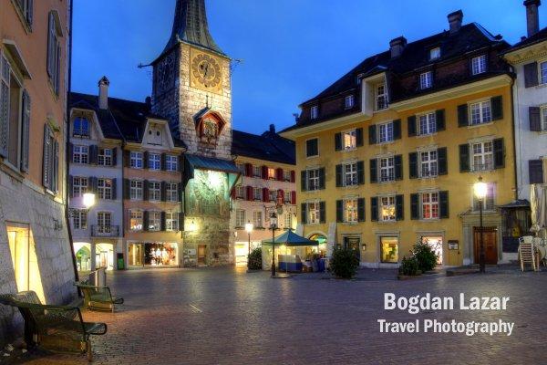 Piața centrală din Soluthurn, Elveția