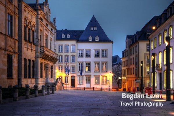 O stradă pietonală în Luxembourg