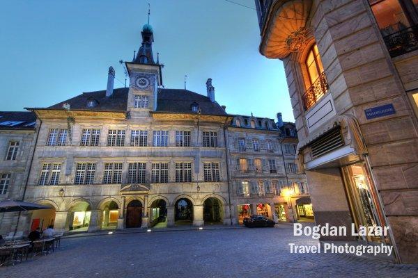 Piața Palud și primăria orașului Lausanne, Elveția