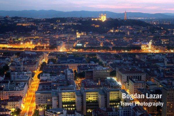 Lyon sunset, France