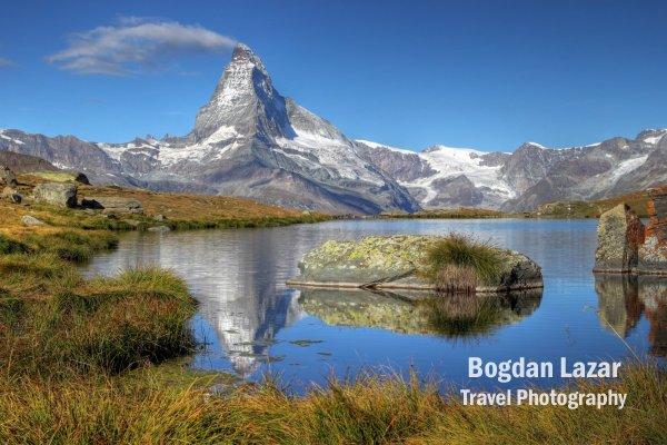 Matterhorn from Lake Stelliesee, Switzerland