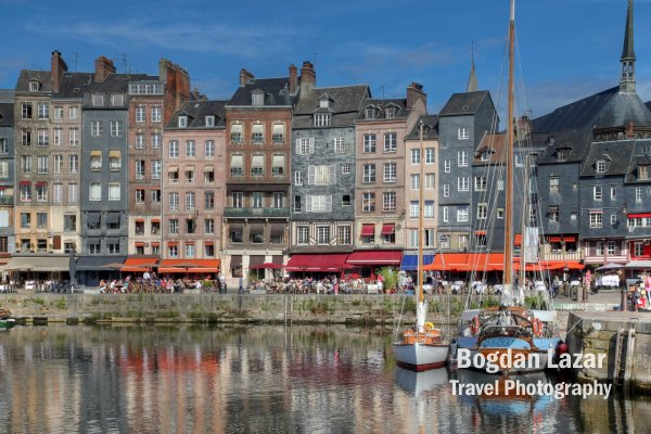 Waterfront in Honfleur, France