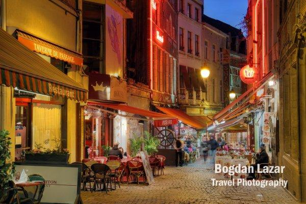 Rue de Bouchers în Brussels, Belgia