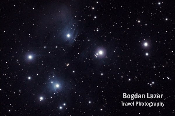 The Pleiades (M45) open cluster