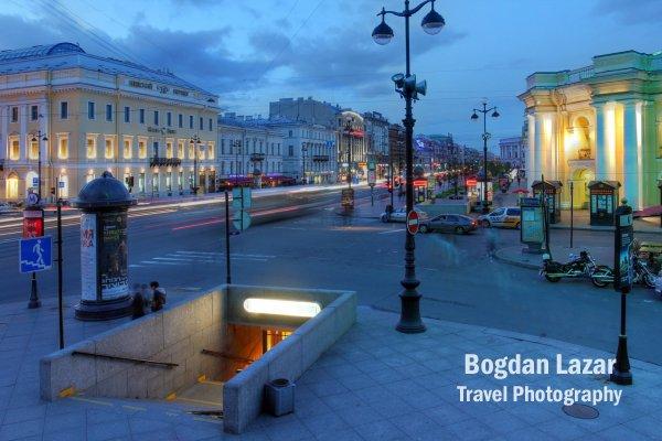 Bulevardul Nevsky in St. Petersburg, Rusia