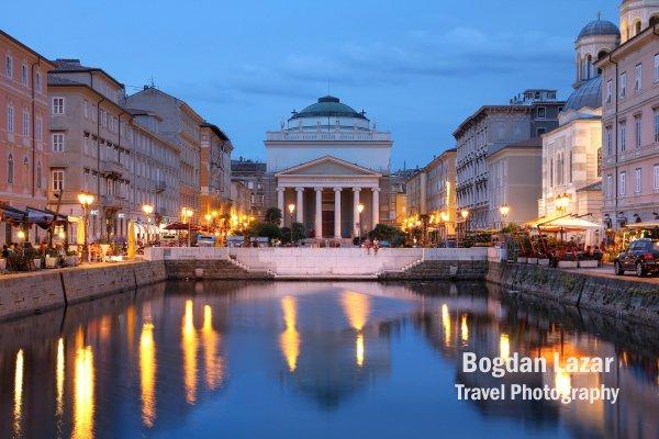 Canalul Grande în Trieste, Italia
