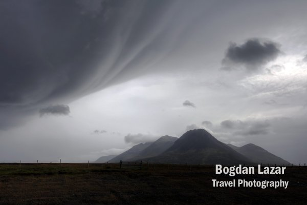 Bad weather landscape, Iceland