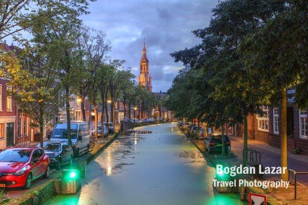 Canal in Delft, Olanda