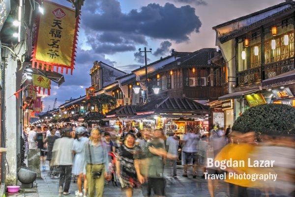 Strada Hefang în Hangzhou, China