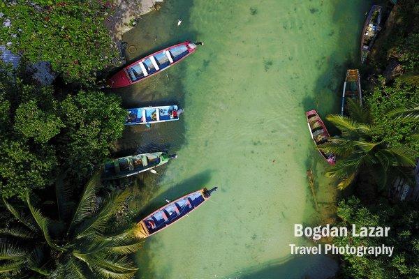 Boats on White River, near Ocho Rio, Jamaica