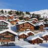 Winter resort in Swiss Alps - Bettmeralp, Switzerland