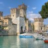Scaliger Castle, Sirmione on Lake Garda, Italy