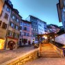 Escaliers du Marche at sundown, Lausanne, Switzerland