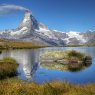 Matterhorn from Lake Stelliesee, Switzerland