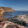 Bird-eye view of Puerto de Mogan 02, Gran Canaria, Spain
