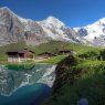Eiger, Monch and Jungfrau mountains, Switzerland