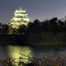 Nagoya Castle at night, Japan