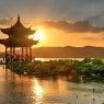 Sunset in Hangzhou, China