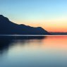 Sunset abstract over Lake Geneva, Switzerland
