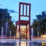 United Nations square, Geneva, Switzerland
