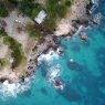 Aerial of 3 Dives point, Negril, Jamaica